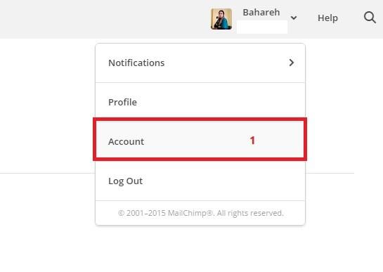 account baransite.com  - ارسال خبرنامه با MailChimp for WordPress
