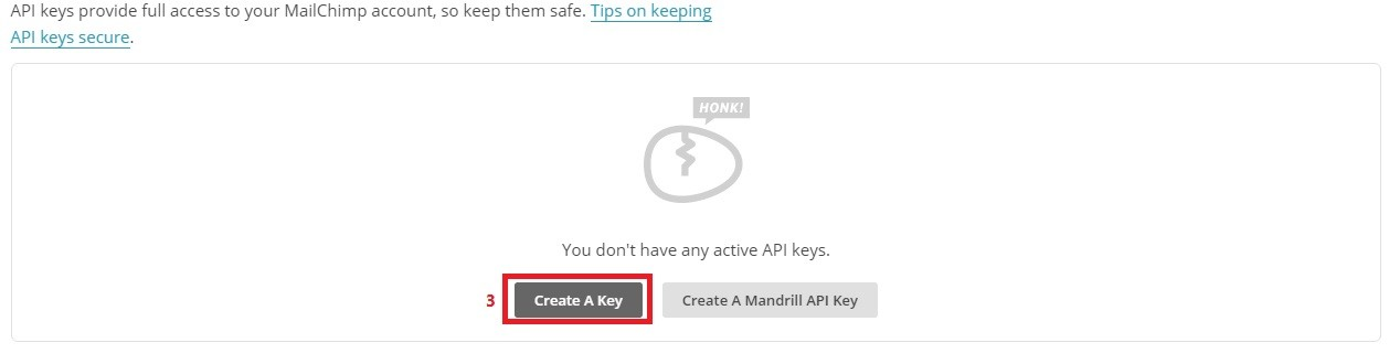 create key baransite.com  - ارسال خبرنامه با MailChimp for WordPress